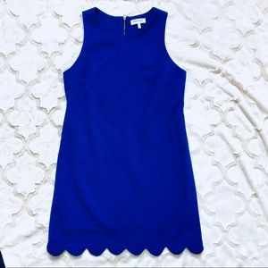Cobalt Blue Scalloped Dress